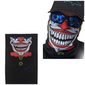 Neck Gaiter Mask Joker Clown Adult One Size